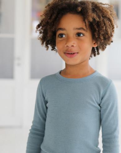 Lasten pitkähihainen paita merinovillaa