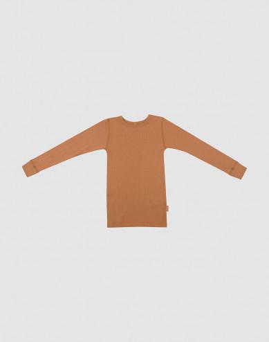 Lasten paita leveää ribbineulosta Toffee