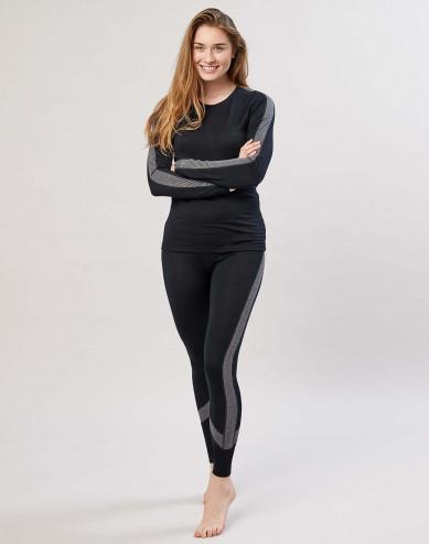 Naisten leggingsit huippulaatuista merinovillaa musta